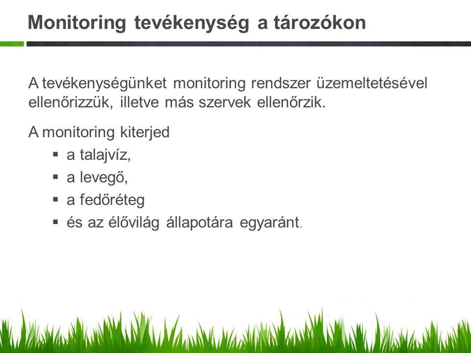 Monitoring tevékenység a tározókon