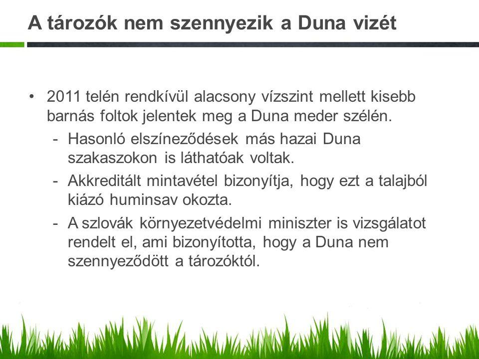 A tározók nem szennyezik a Duna vizét