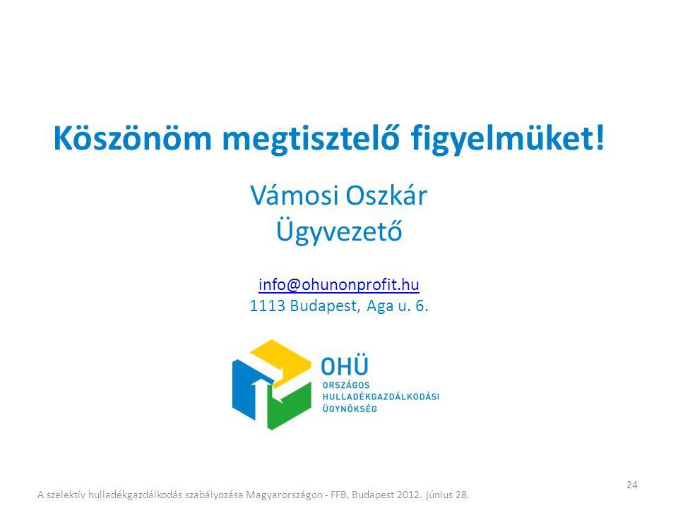 Vámosi Oszkár Ügyvezető info@ohunonprofit.hu 1113 Budapest, Aga u. 6.