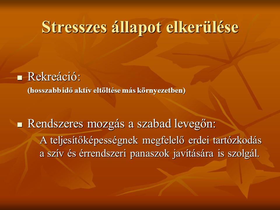 Stresszes állapot elkerülése