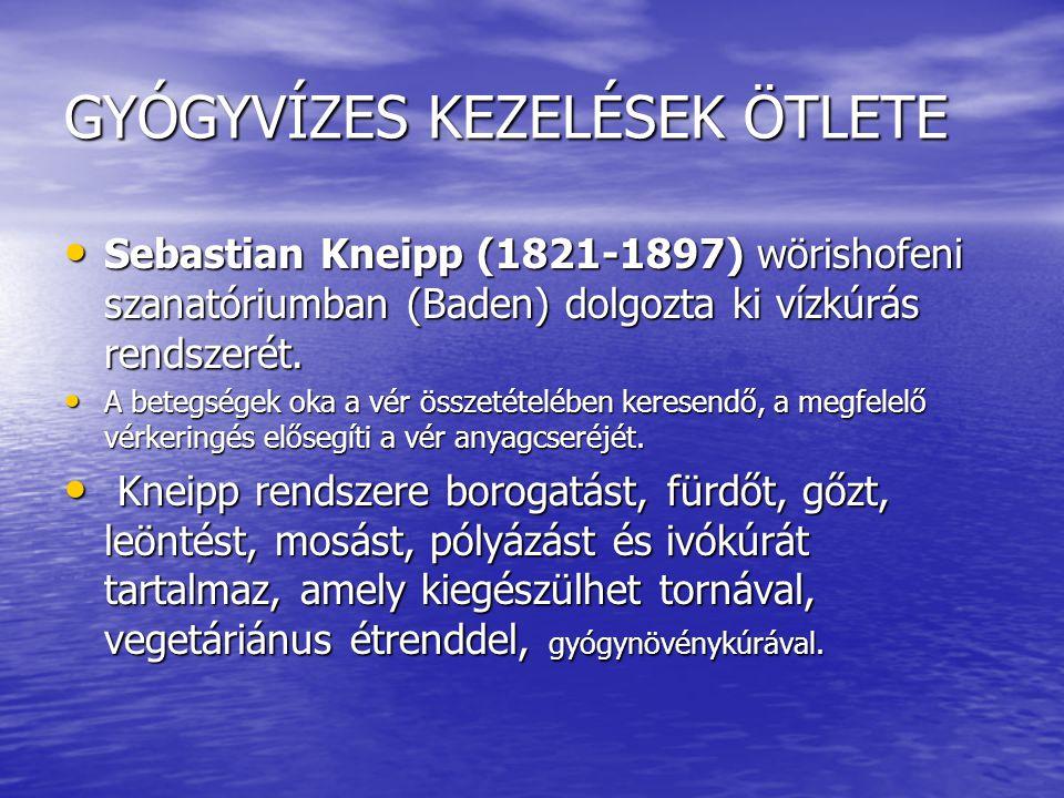 GYÓGYVÍZES KEZELÉSEK ÖTLETE