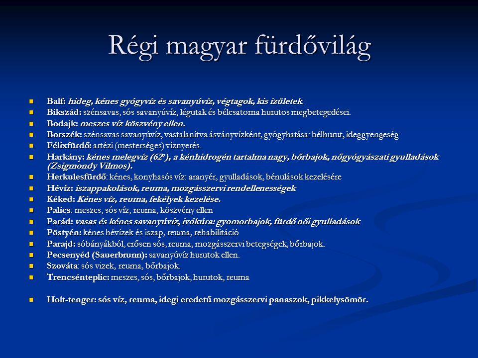 Régi magyar fürdővilág