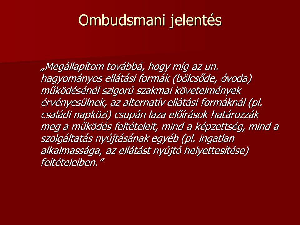 Ombudsmani jelentés