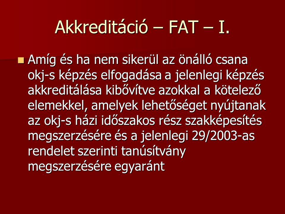 Akkreditáció – FAT – I.