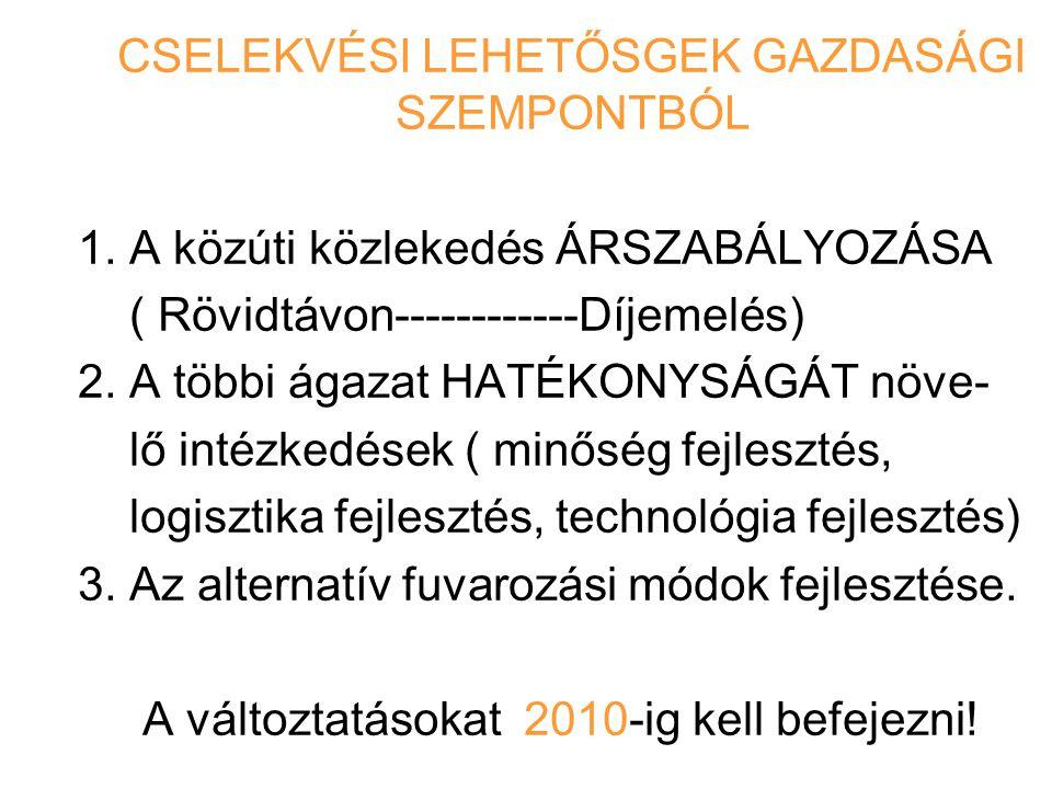 CSELEKVÉSI LEHETŐSGEK GAZDASÁGI SZEMPONTBÓL
