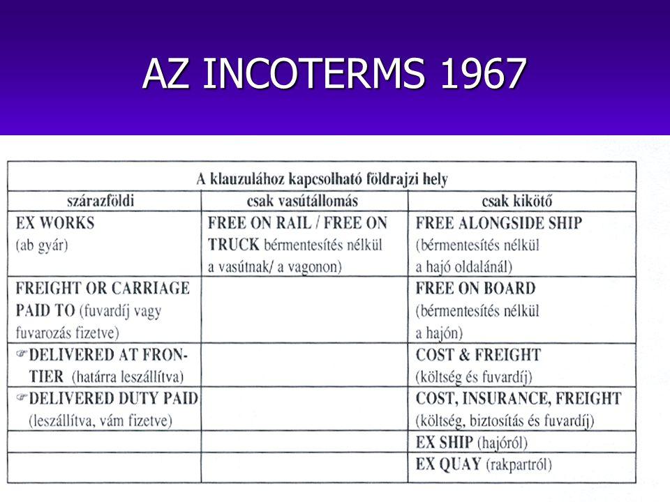 AZ INCOTERMS 1967
