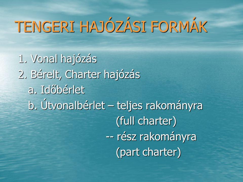 TENGERI HAJÓZÁSI FORMÁK