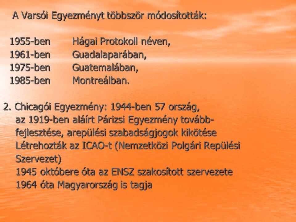 A Varsói Egyezményt többször módosították: