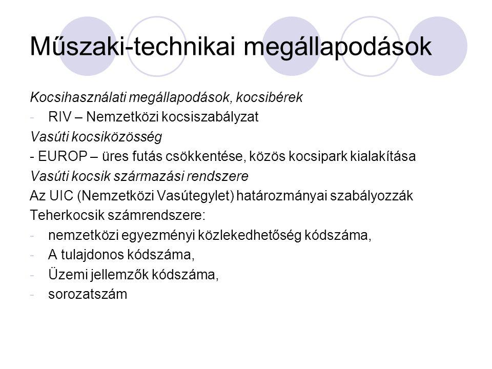 Műszaki-technikai megállapodások