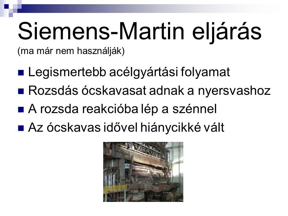 Siemens-Martin eljárás (ma már nem használják)