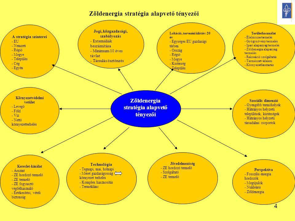Zöldenergia stratégia alapvető tényezői