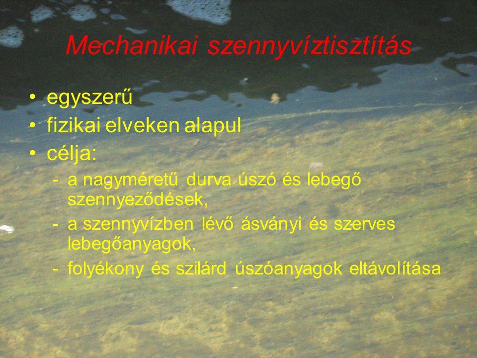Mechanikai szennyvíztisztítás