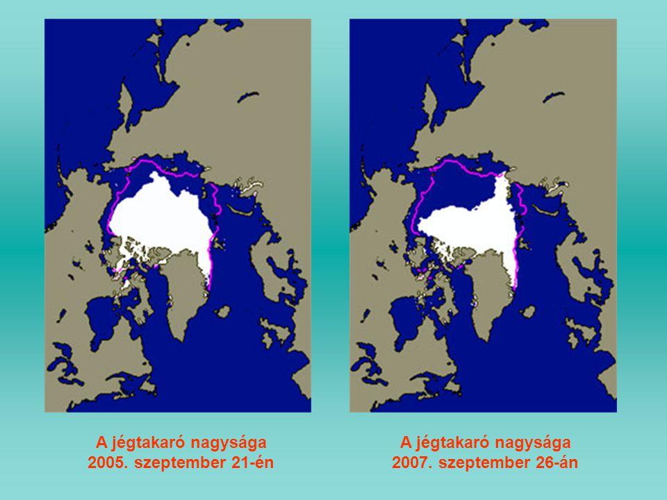 A jégtakaró nagysága 2005. szeptember 21-én