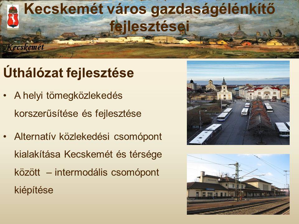 Kecskemét város gazdaságélénkítő fejlesztései