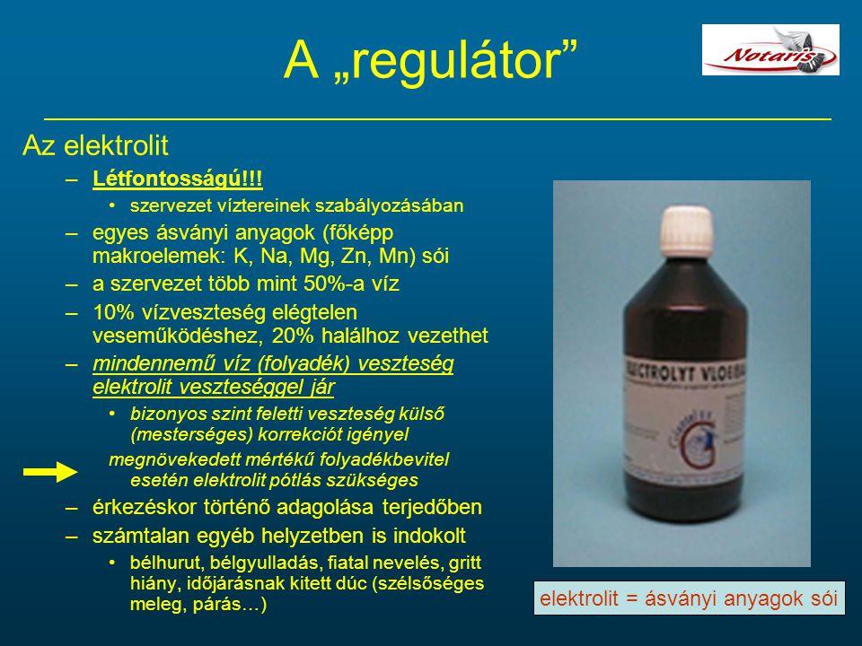 elektrolit = ásványi anyagok sói