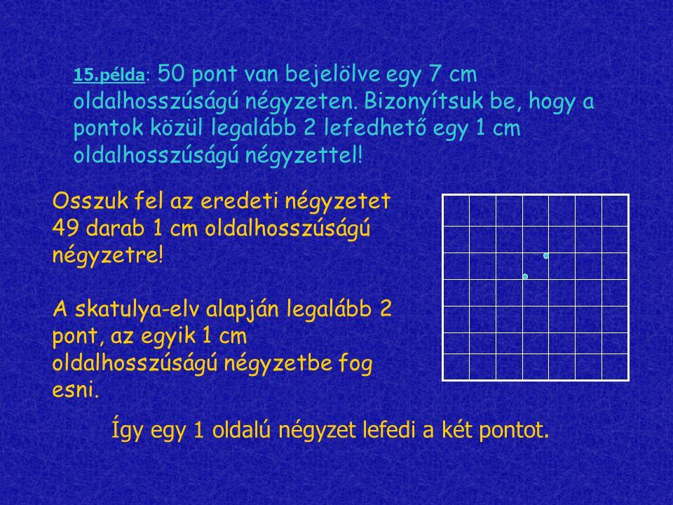 Így egy 1 oldalú négyzet lefedi a két pontot.
