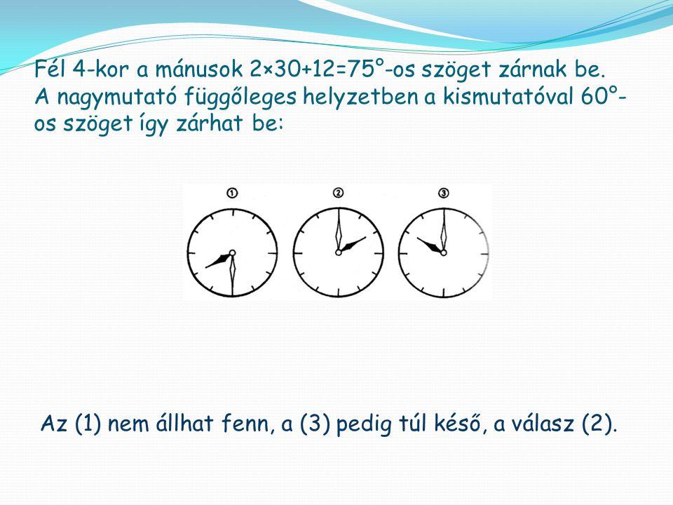 Az (1) nem állhat fenn, a (3) pedig túl késő, a válasz (2).