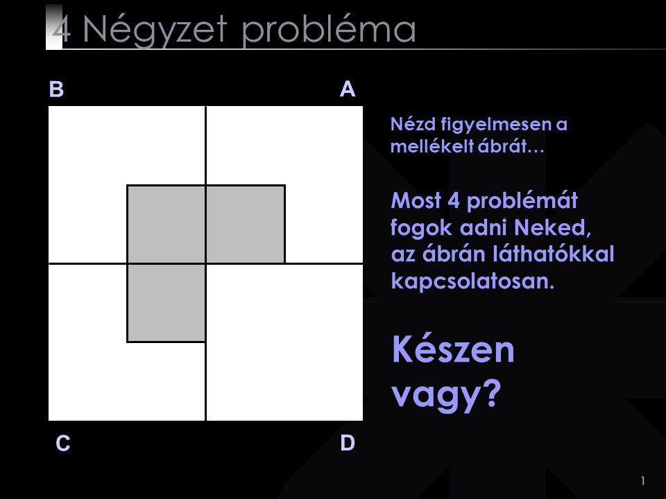4 Négyzet probléma Készen vagy B A