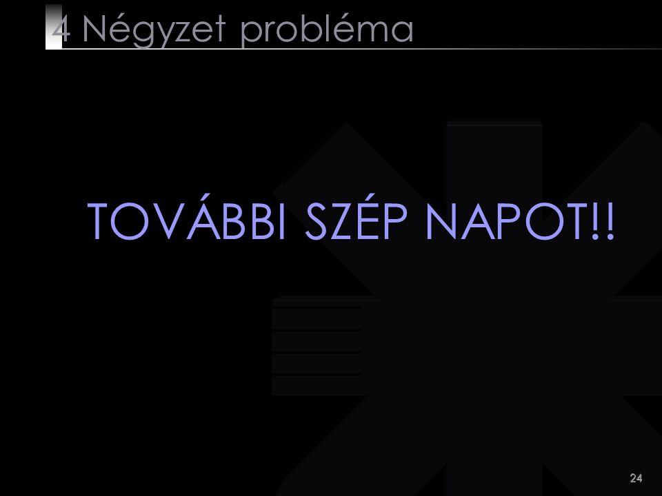 4 Négyzet probléma TOVÁBBI SZÉP NAPOT!!
