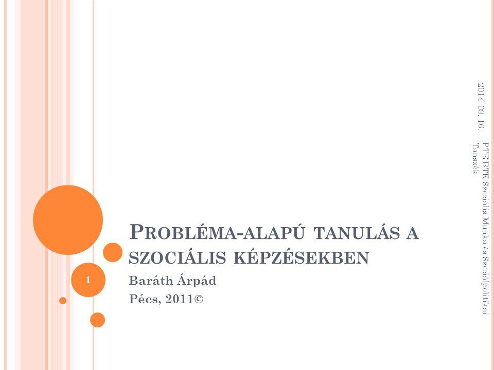 Probléma-alapú tanulás a szociális képzésekben