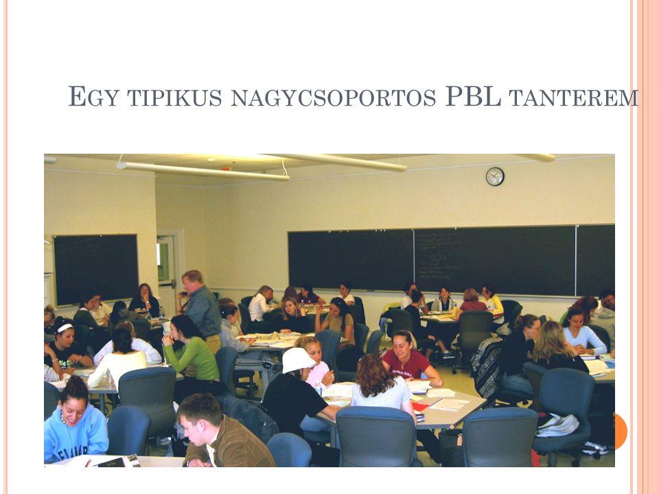 Egy tipikus nagycsoportos PBL tanterem