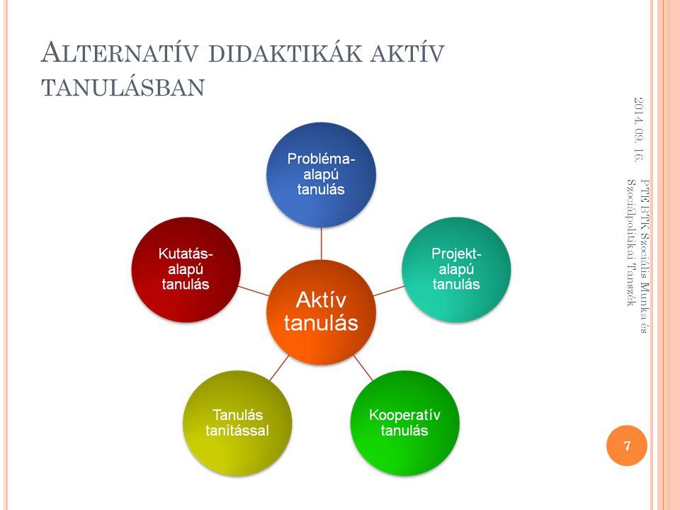 Alternatív didaktikák aktív tanulásban