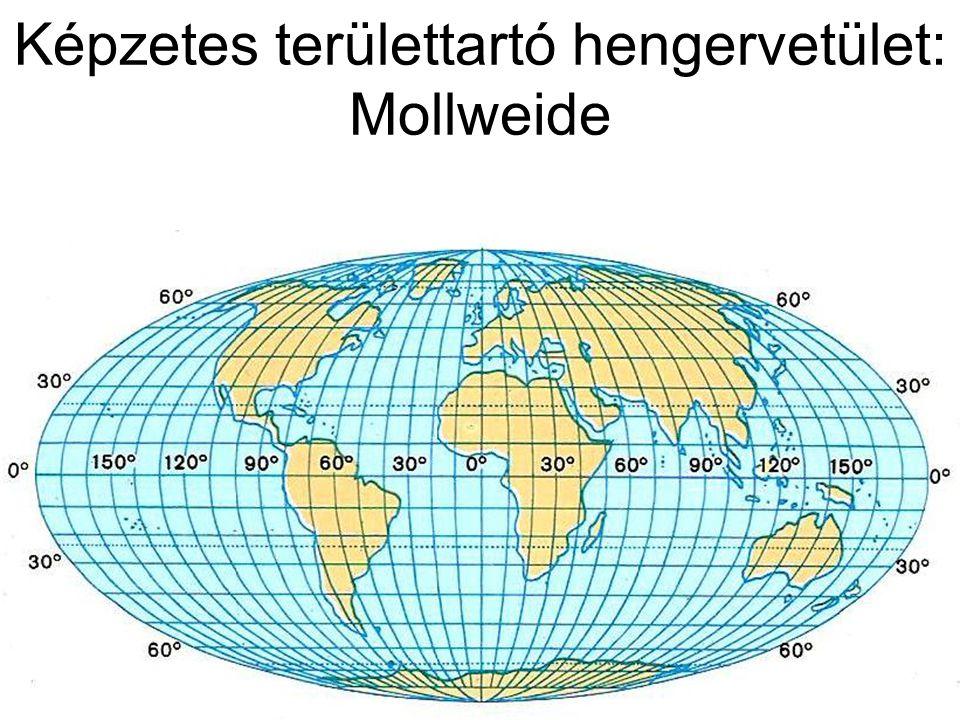Képzetes területtartó hengervetület: Mollweide