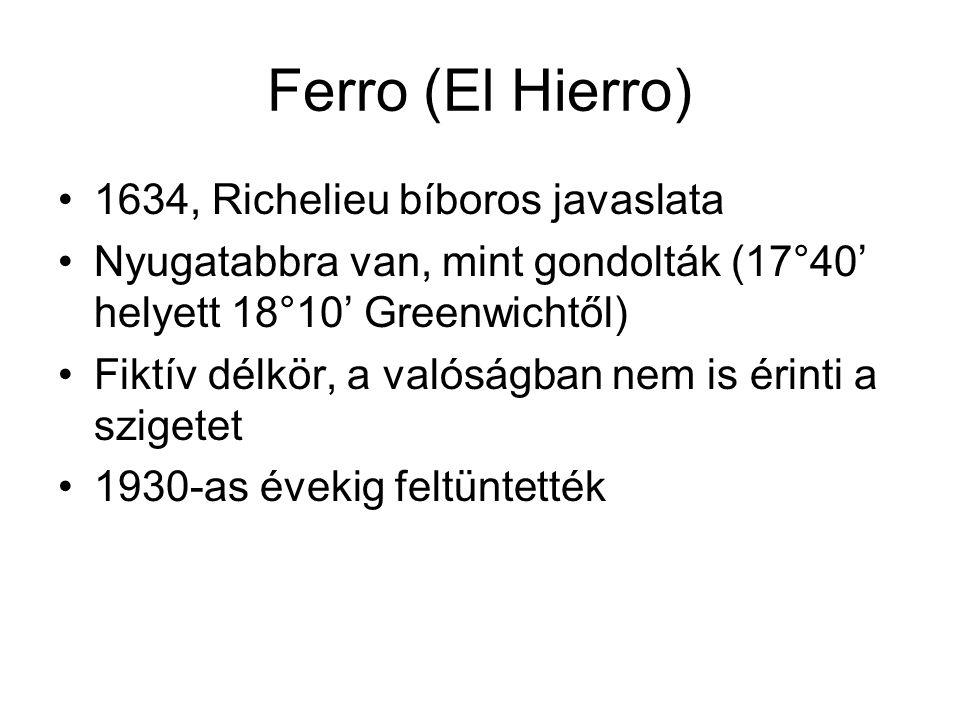 Ferro (El Hierro) 1634, Richelieu bíboros javaslata