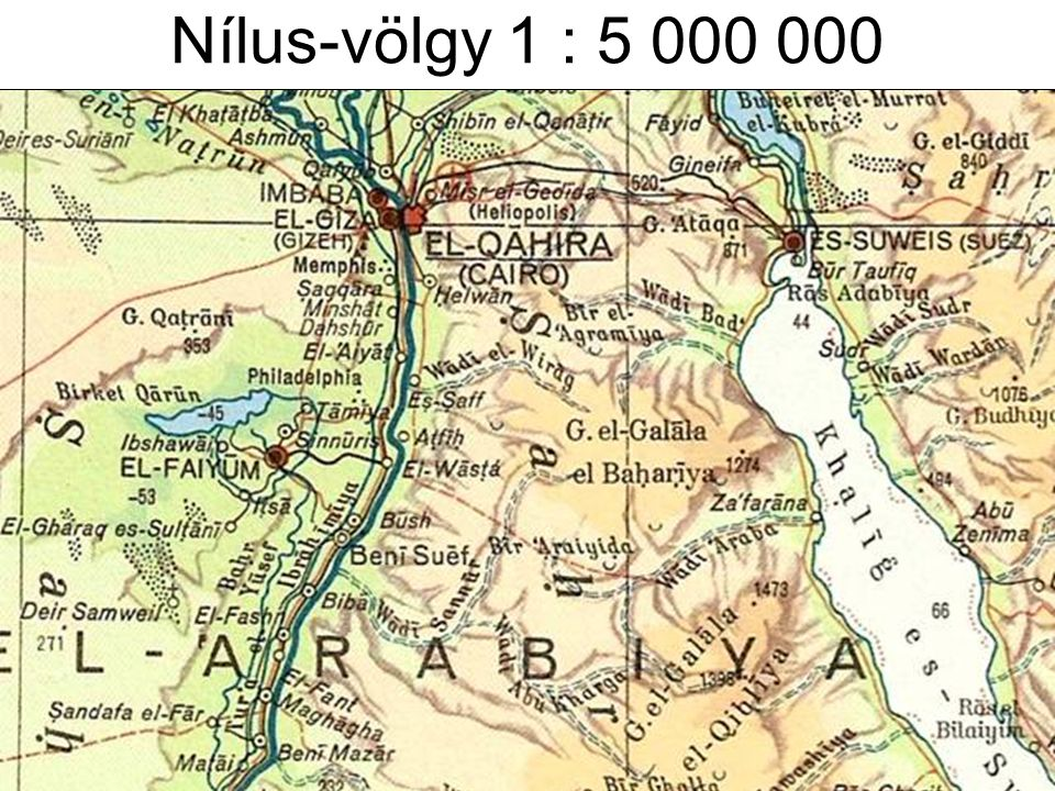 Nílus-völgy 1 : 5 000 000