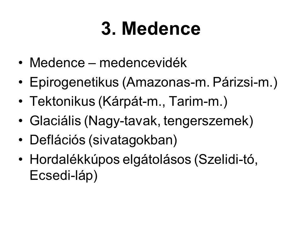 3. Medence Medence – medencevidék