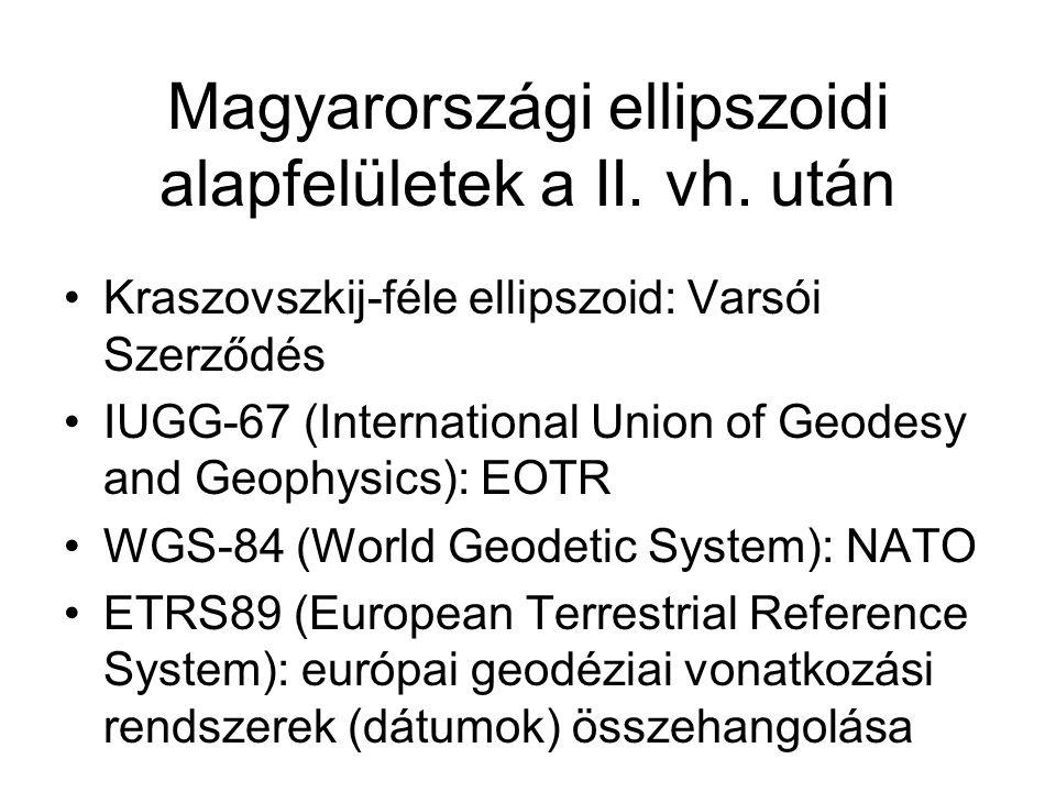 Magyarországi ellipszoidi alapfelületek a II. vh. után