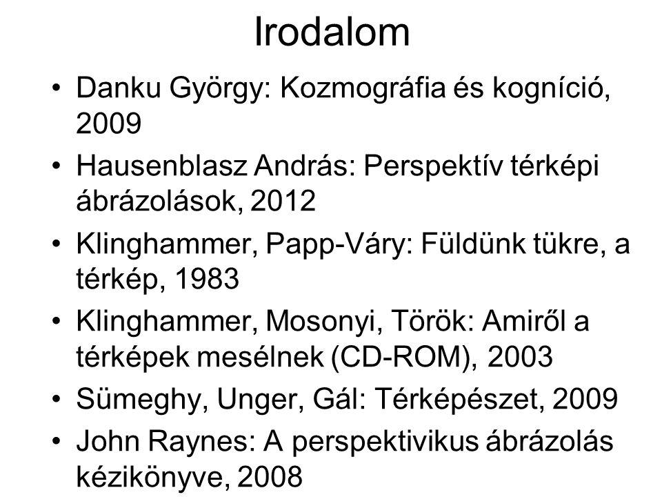 Irodalom Danku György: Kozmográfia és kogníció, 2009