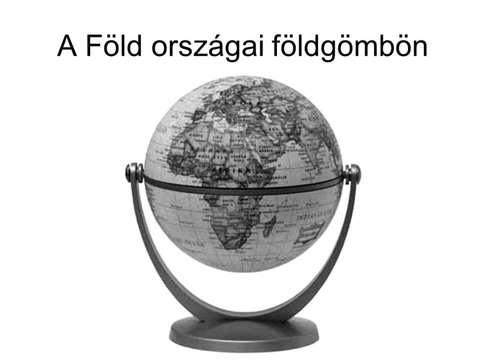 A Föld országai földgömbön