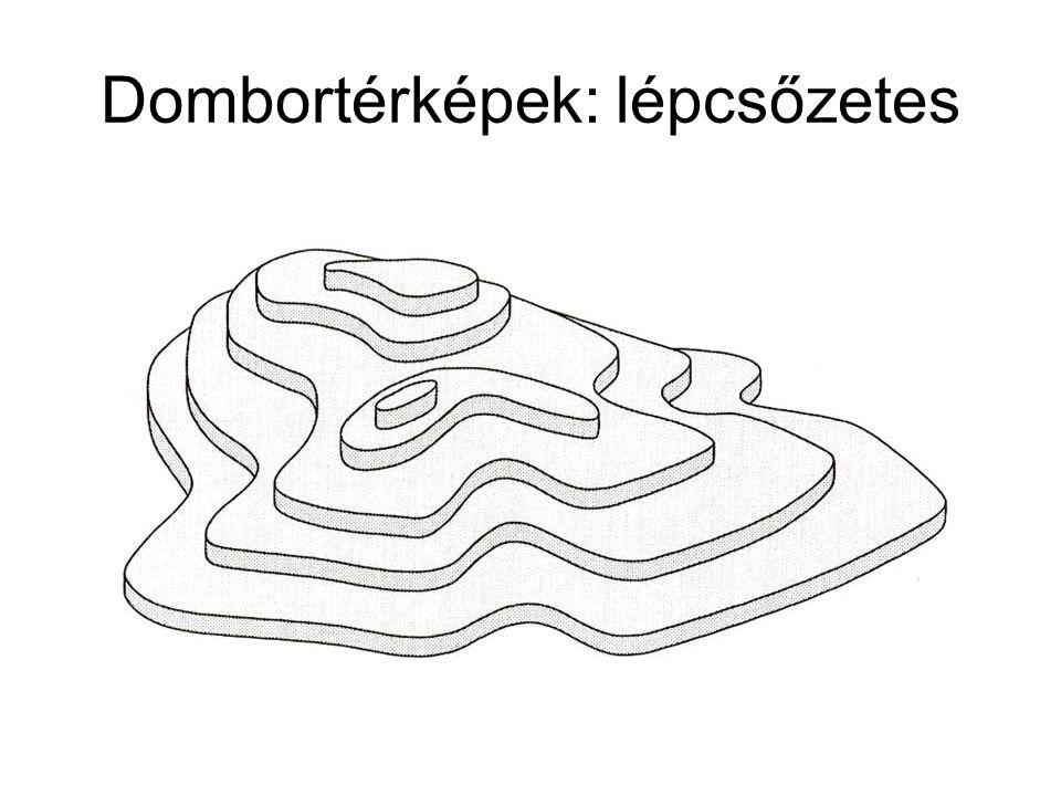 Dombortérképek: lépcsőzetes