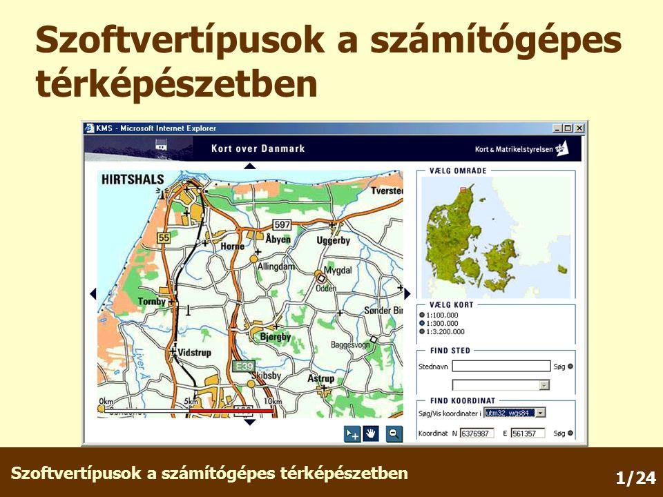 Szoftvertípusok a számítógépes térképészetben