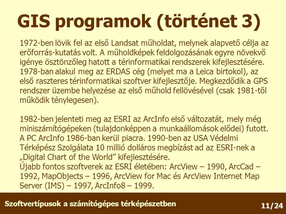 GIS programok (történet 3)