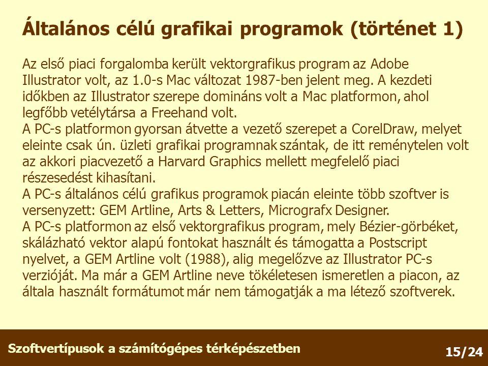 Általános célú grafikai programok (történet 1)