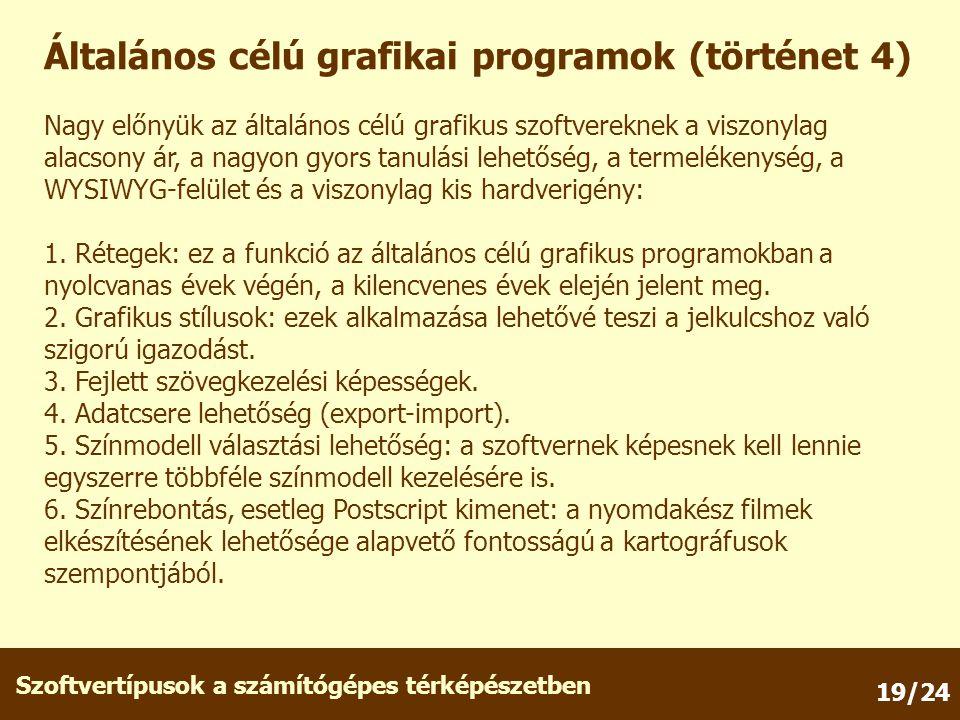 Általános célú grafikai programok (történet 4)