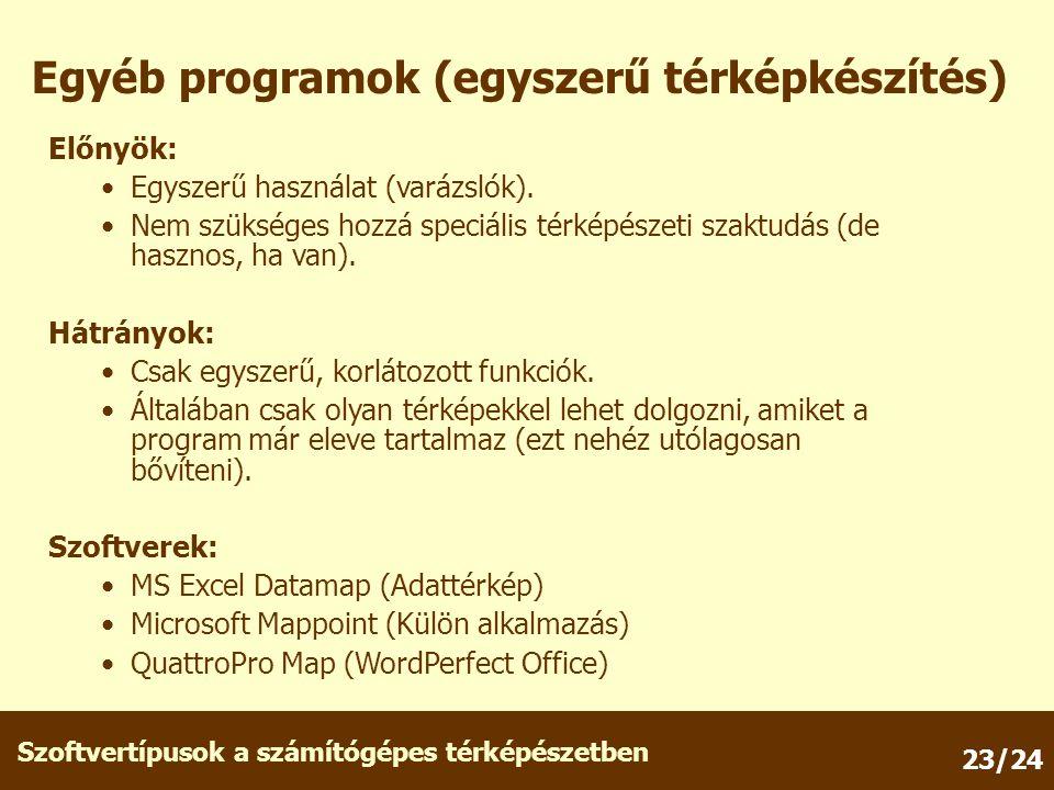 Egyéb programok (egyszerű térképkészítés)