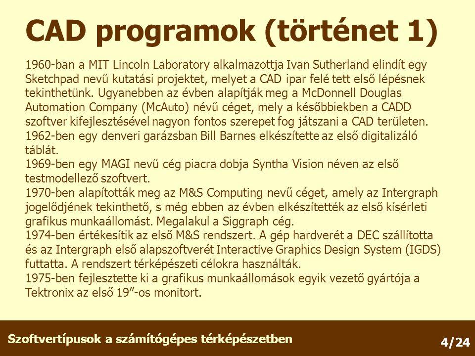 CAD programok (történet 1)