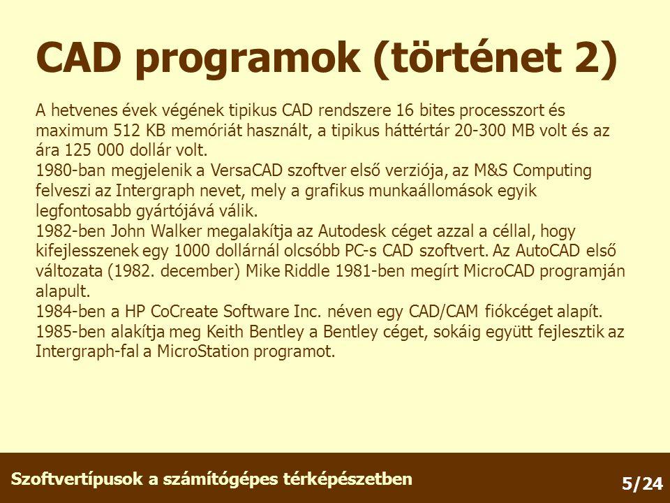 CAD programok (történet 2)