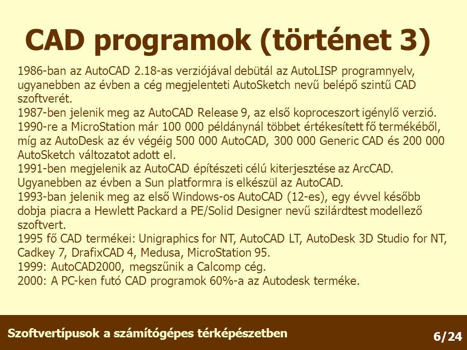 CAD programok (történet 3)