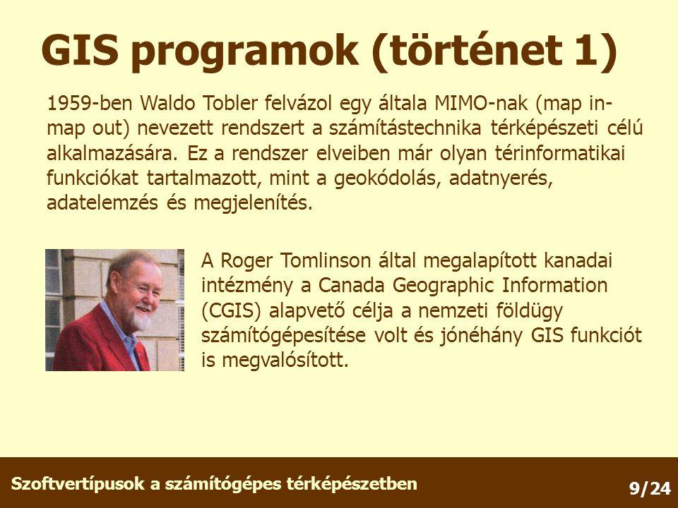 GIS programok (történet 1)
