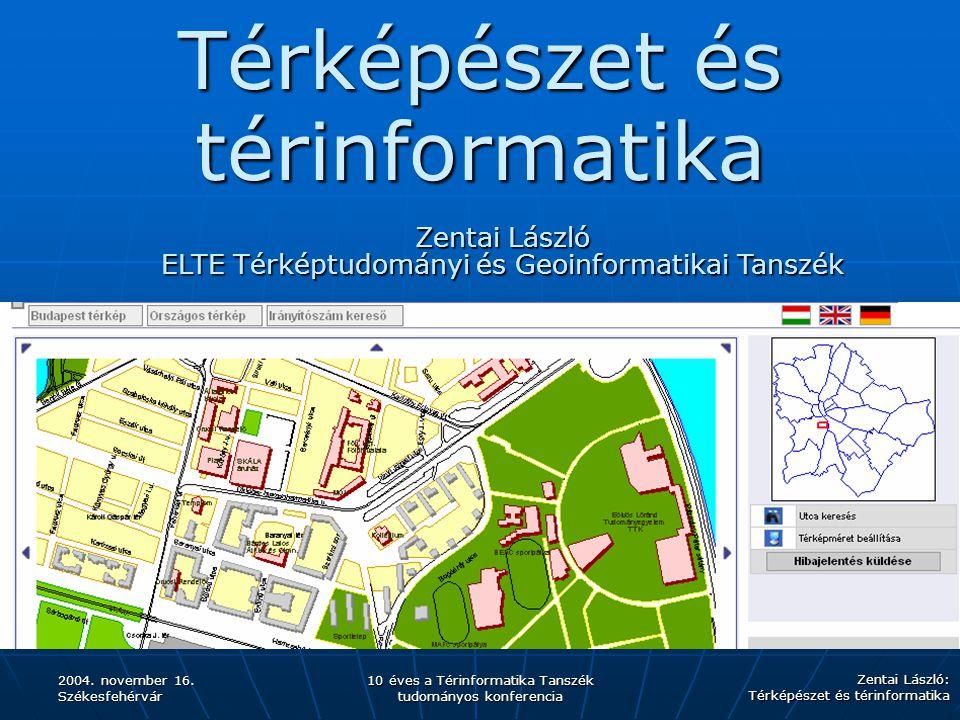 Térképészet és térinformatika