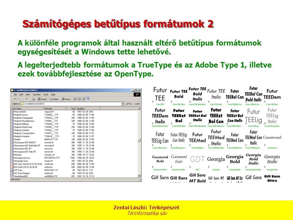 Számítógépes betűtípus formátumok 2