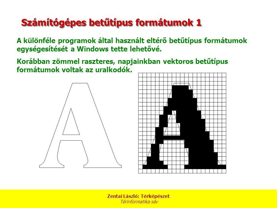 Számítógépes betűtípus formátumok 1