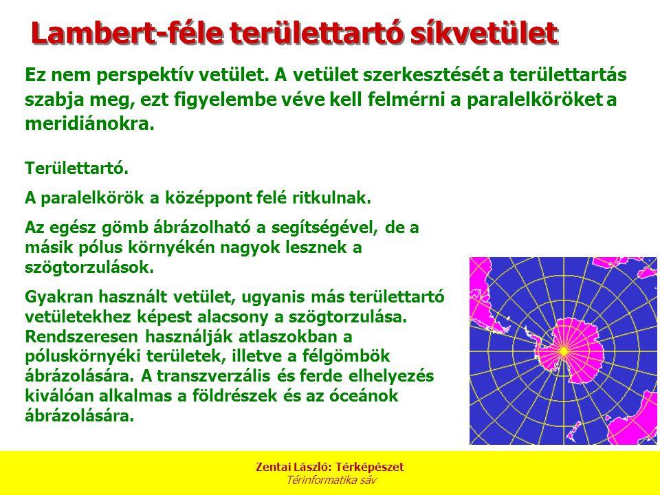 Lambert-féle területtartó síkvetület