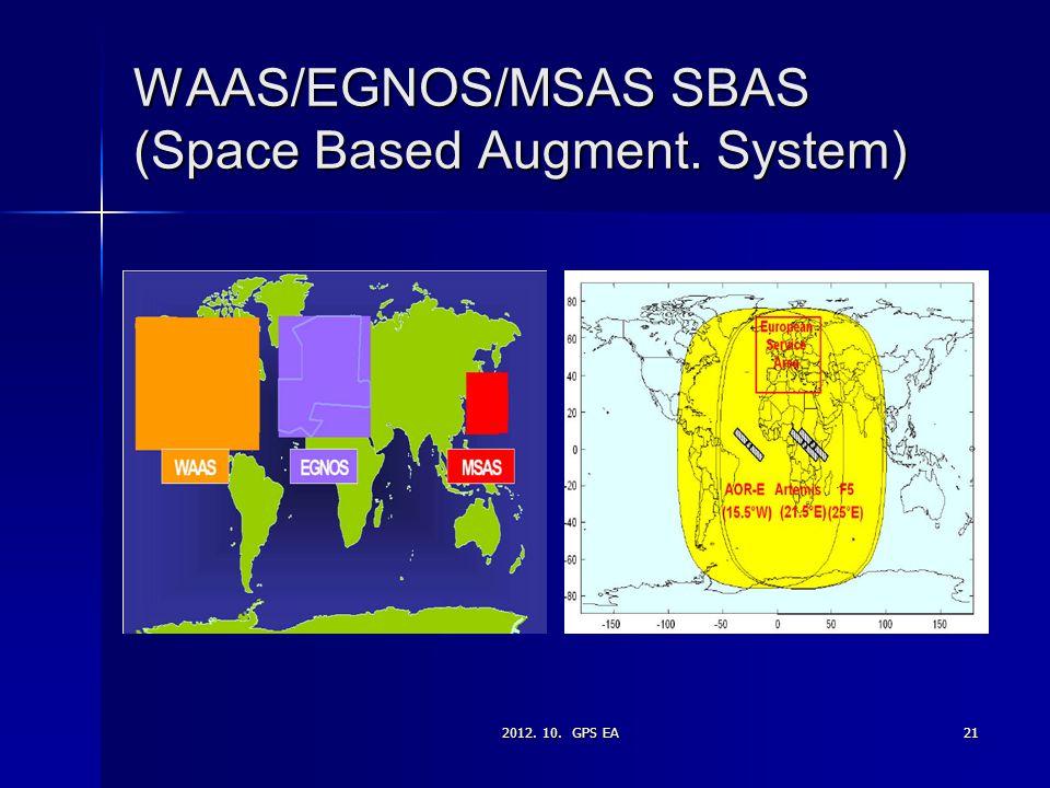 WAAS/EGNOS/MSAS SBAS (Space Based Augment. System)
