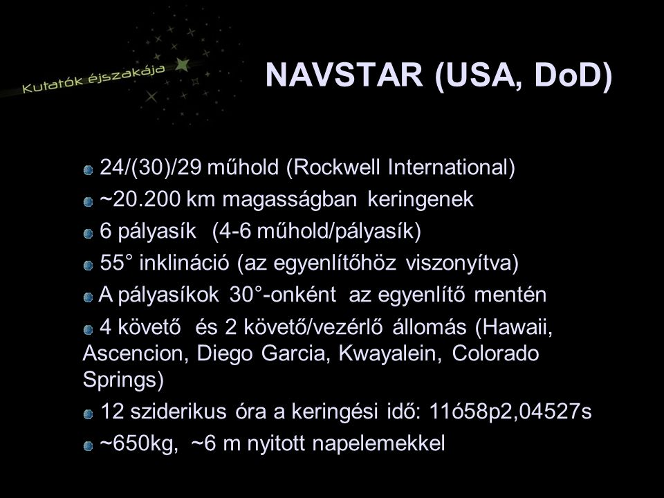 NAVSTAR (USA, DoD) 24/(30)/29 műhold (Rockwell International)