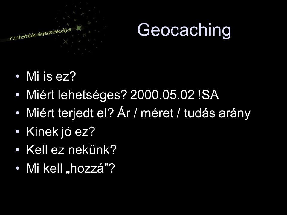 Geocaching Mi is ez Miért lehetséges 2000.05.02 !SA